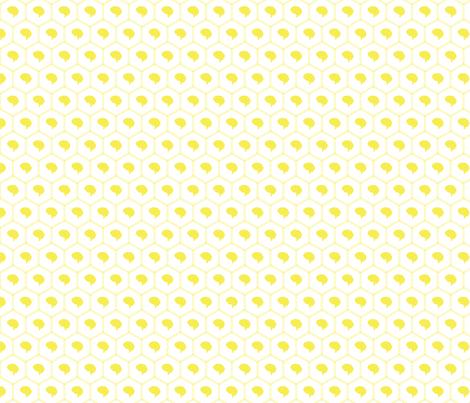 Honeycomb   Yellow fabric by handmadephd on Spoonflower - custom fabric