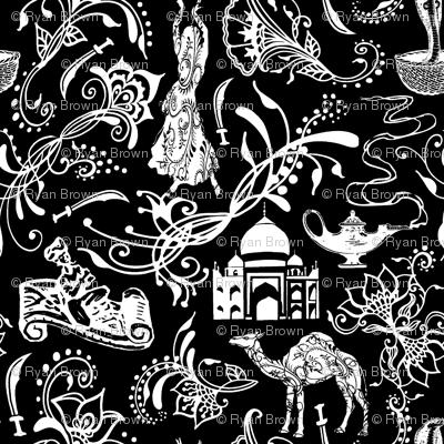 Arabian Nights on Black // Small-size