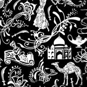 Arabian Nights on Black- Large