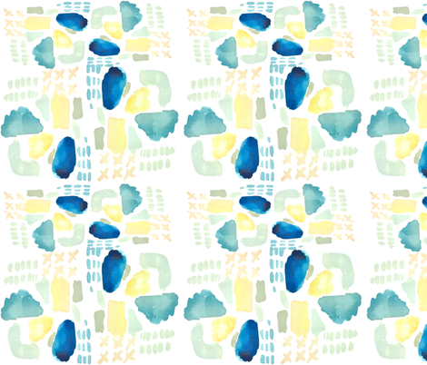 Clouds and rain fabric by jennifer_rizzo on Spoonflower - custom fabric