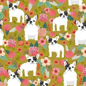 french bulldogs cute dogs flowers floral vintage spring florals watercolor flowers dog dogs pet frenchies cute dogs