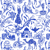 Arabian Nights in China Blue - Small