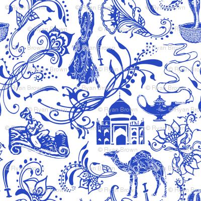 Arabian Nights in China Blue // Small-size
