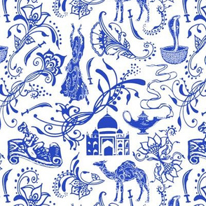 Arabian Nights in China Blue // Small-size