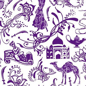 Arabian Nights in Dark Purple // Large-size