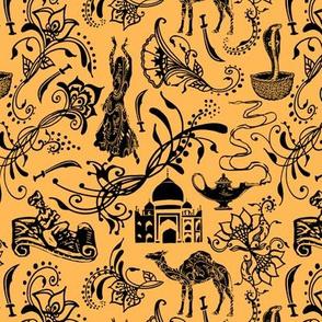 Arabian Nights on Light Orange // Small-size