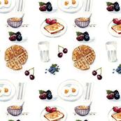 Watercolor Breakfast