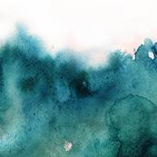 ocean watercolor, light ombre
