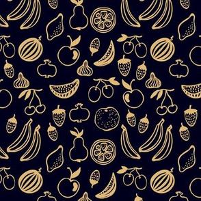 Golden doodle summer fruits