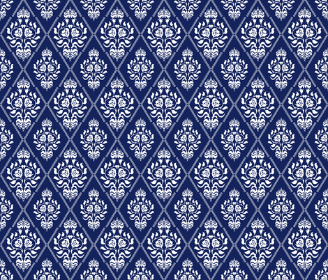 Damask Pattern With Gothic And Victorian Motifs Fabric By Svetlana Kononova On Spoonflower