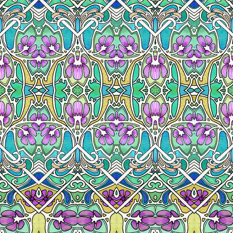 Then There Were Violets fabric by edsel2084 on Spoonflower - custom fabric