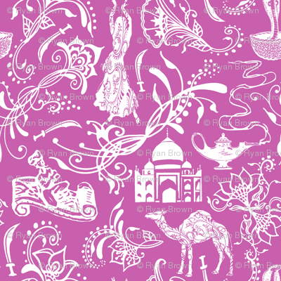 Arabian Nights on Fuchsia // Small-size