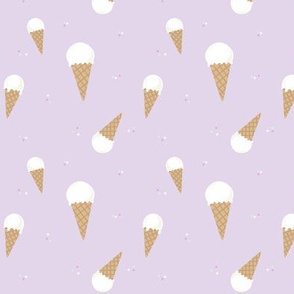Ice Cream Cone  - Purple // kids design nursery cute summer