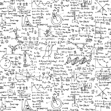 Physics Equations fabric by thinlinetextiles on Spoonflower - custom fabric