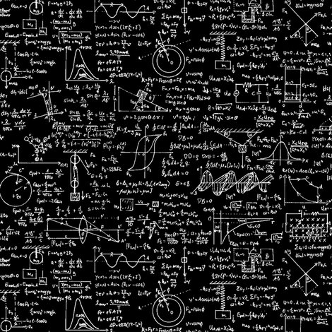 Physics Equations On Black Small Wallpaper Thinlinetextiles
