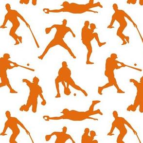 Orange Baseball Players // Small