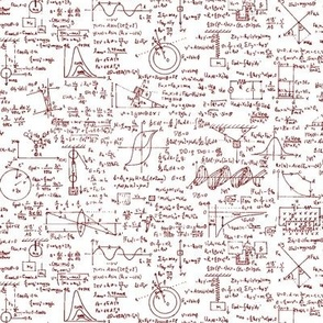Red Physics Equations // Small
