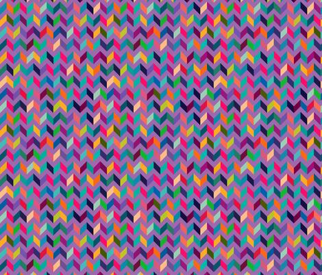 Chevron Mulit Color on Purple fabric by khaus on Spoonflower - custom fabric