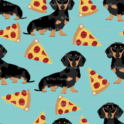 doxie dachshund pizza food novelty kids funny dogs pets cute doxie dachshunds