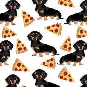doxie dachshunds pizza funny cute pets pet dog food pizzas dachshunds fabric