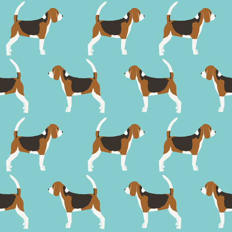 beagles pet dog dogs beagle pets blue classic dog fabric fabric by petfriendly on Spoonflower - custom fabric