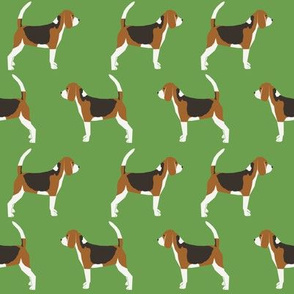 beagle green classic dog fabric pet dogs cute dog
