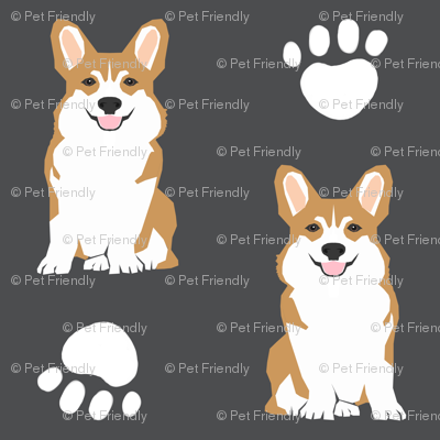 corgi corgis dog dog paw cute charcoal