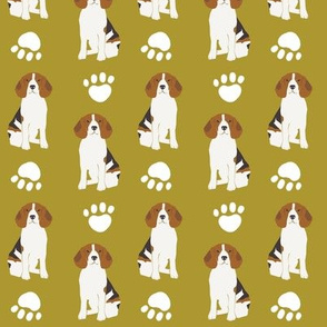 beagle beagles pet dog dogs cute paw paws print olive green men mans best friend cute dogs