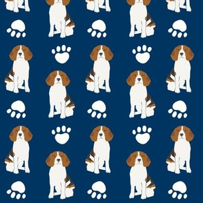 beagle beagles navy blue blue dog dogs pet dog pet owners cute beagle fabric