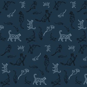 Cat Constellations (navy blue variant)