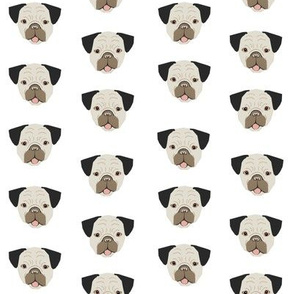 pugs dog pug fabric dogs pet dog white cute pet dogs pet fabrics