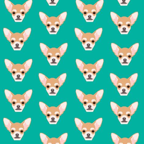 chihuahua dog cute mini dog dog pets cute dog head fabric by petfriendly on Spoonflower - custom fabric