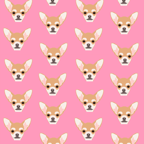 chihuahua cute dog dogs face pet dogs chihuahuas fabric by petfriendly on Spoonflower - custom fabric