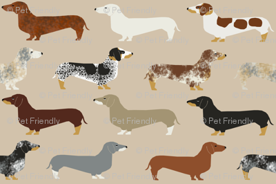 dachshund doxie dachshunds dogs dog pet dog cute dog pets fabric