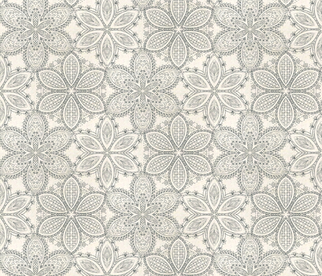 Black and white fabric by ailsaek on Spoonflower - custom fabric