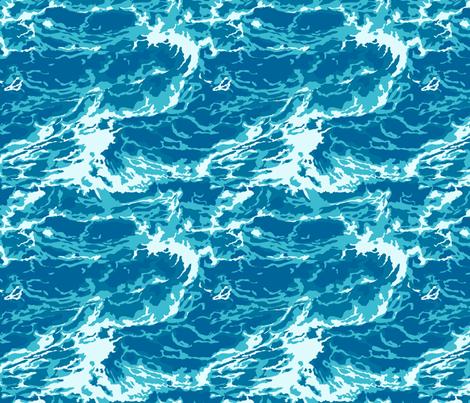 Ocean Waves fabric by nethery on Spoonflower - custom fabric