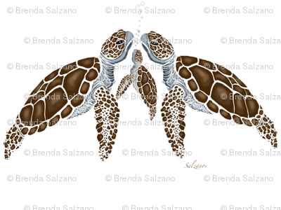 Sea Turtle Family by Salzanos