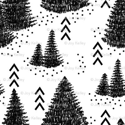 Pine forest // Black and white