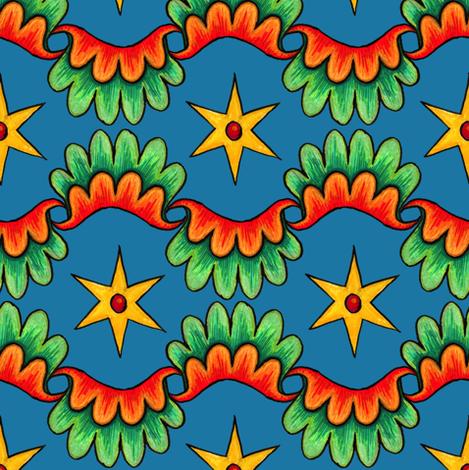 Bright Star fabric by poshcrustycouture on Spoonflower - custom fabric