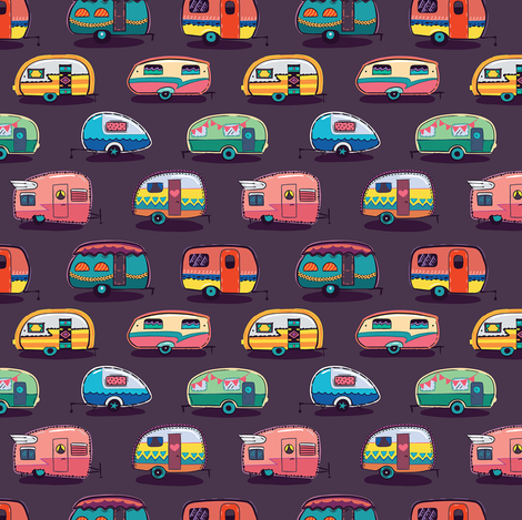 Happy camper fabric by penguinhouse on Spoonflower - custom fabric