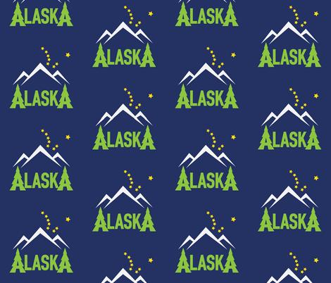 AlaskaMtnDipperDRK fabric by 907north on Spoonflower - custom fabric