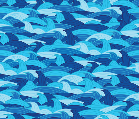 open blue fabric by castl3t0n on Spoonflower - custom fabric