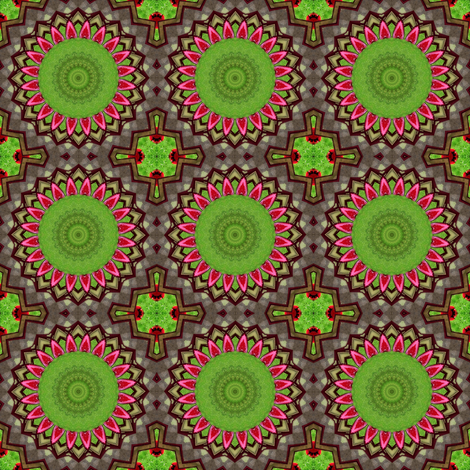 Springtime at the Birdfeeder_Kaleidoscope Version 1 fabric by ginascustomcreations on Spoonflower - custom fabric