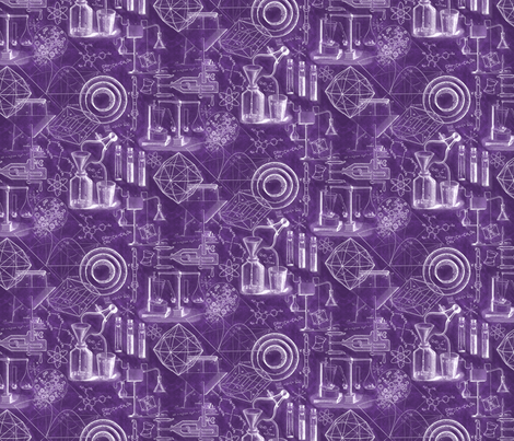 Purple Science Chemistry Assembly fabric by xoxotique on Spoonflower - custom fabric