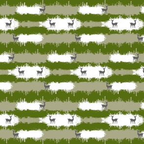 camo  deer 2  MEDIUM - forest