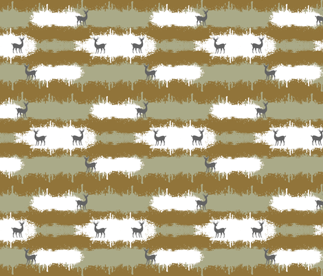 deer camo  2  MEDIUM - brown fabric by drapestudio on Spoonflower - custom fabric