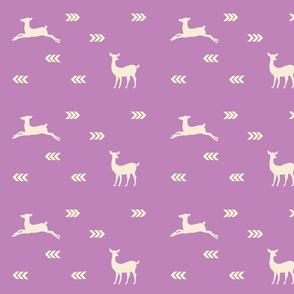 Aztec Deer 2 Mod - lavender cream