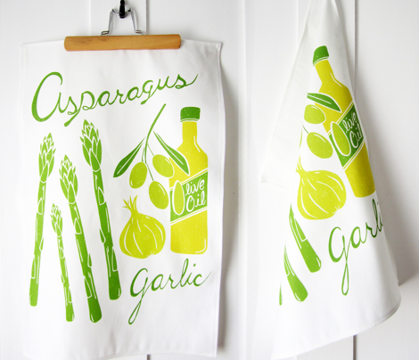Bon Appetit Tea Towel  - Vegetables Cooking Kitchen