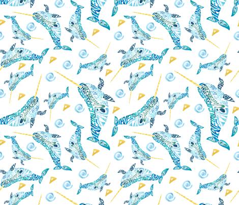 Unicorn Of the Sea fabric by namastemama on Spoonflower - custom fabric