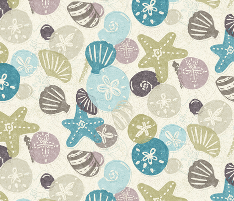 A Walk on the Beach fabric by noondaydesign on Spoonflower - custom fabric